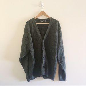 Trader Bay Dark Grey Oversized Cardigan XLT